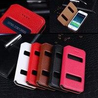 Coqueケースiphone用5 & 5 sデラックスライチ本革ケースフリップsmart viewウィンドウ用appleのiphone 5 s小箱fundas