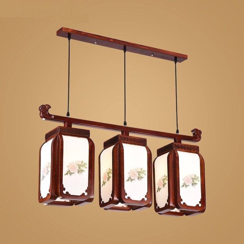 Летний Деревянный Антикварный подвесной светильник для ресторана, простой светильник для гостиной, лестницы, коридора, винтажный светильн