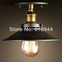 Rústico americano Do Vintage Luz de Teto  ferro lâmpada antiga lâmpada do teto  luzes de teto iluminação de teto para sala de jantar