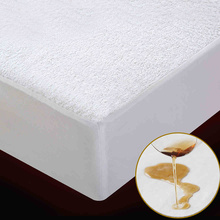 terry waterproof size 160x200cm bed waterproof cover mattress protector cover for bed wetting and bed bug suit for russian size - Bed Bug Protector