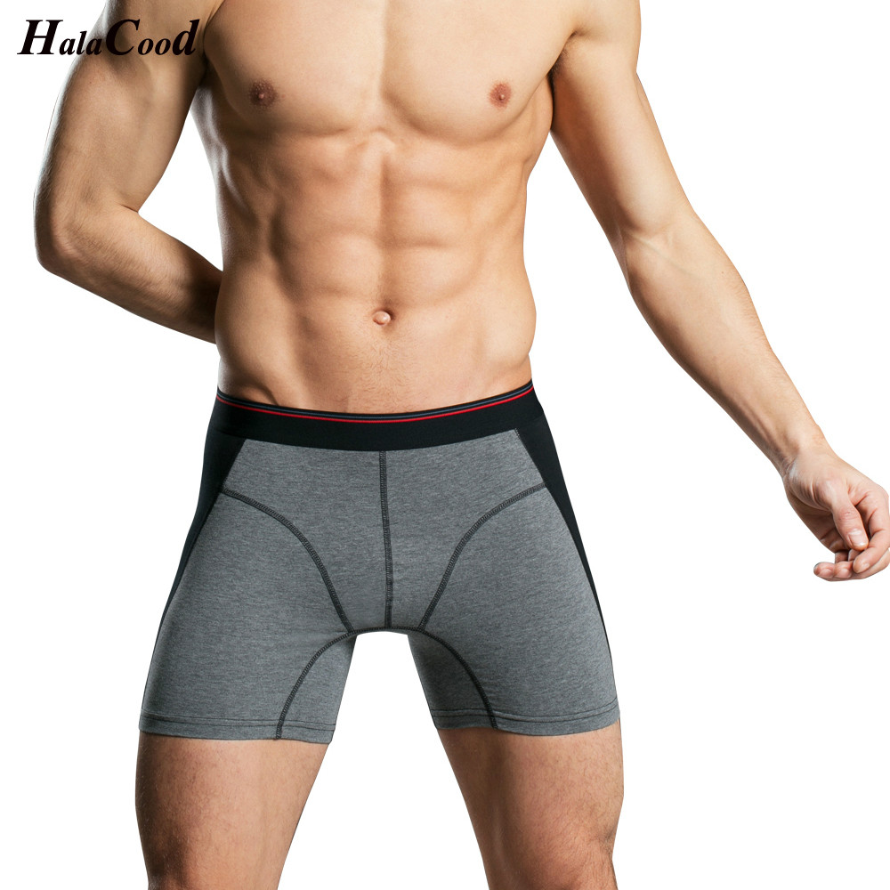 High Quality Fashion Long Panties Fashion Sexy Cotton Men's Boxer Shorts Male Undepant Europe Popular Men Underwear Large Size