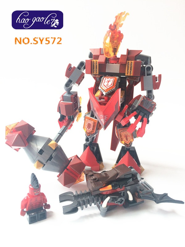 SY572 Nexus nick knights building block bricks Moltor mech robot battle Aaron baby toys for kids gifts hot sy762 nexus nick knights mech robot building block clay macy axl lance beast master moltor bricks block figure toys for kids
