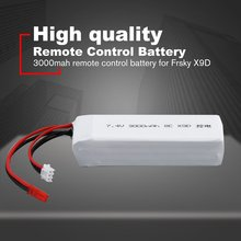 7.4V 3000mAh Rechargeable Remote Control Lithium Battery Transmitter Battery for Frsky X9D RC Models Parts Toys Battery high quality black white frsky accst taranis q x7 transmitter spare part protective remote control cover shell for rc models