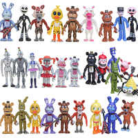 FNAF PVC figuras de acción Set Foxy chica Bonnie Fazbear hermana ubicación muñecas modelo pesadilla cinco noches en el juguete de 4 de Freddy