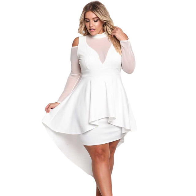 Zmvkgsoa Girls Black White Big Plus Size Dresses Xxxl Peplum Dresses