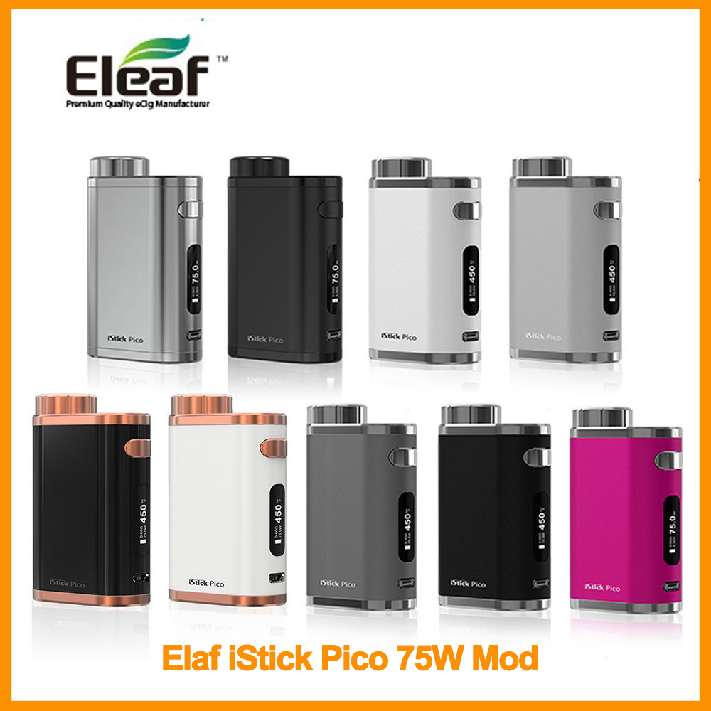 Hot Sale Original Eleaf IStick Pico 75W Mod By 18650 Battery Not Included 510 Thread Vape Elektronik Sigara