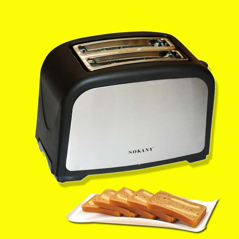 Household Automatic Bread Toaster Baking Breakfast Machine Stainless steel 2 Slices Slots Bread Maker 220V 800W