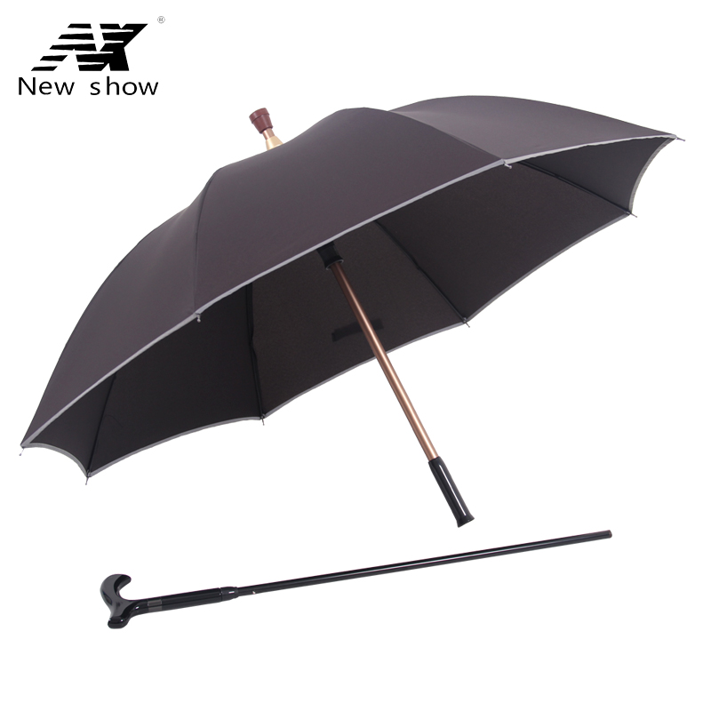 NX Walking Stick umbrella cane creative long umbrella men straight handle super strong against the wind