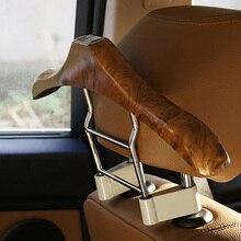 46×21 cm Peachwood Reposacabezas Del Asiento de Coche Pilar de Acero Inoxidable Percha Traje Titular de Montaje Estante Funcional de Accesorios de Automóvil