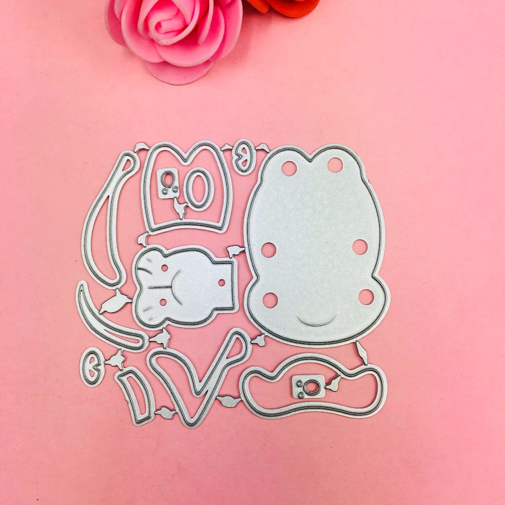 Lovely Dog bow Ear Cutting Dies Stencils for DIY Scrapbooking photo album Decorative Embossing DIY Paper Cards in Cutting Dies from Home Garden