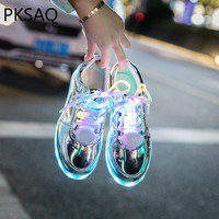 New Led Lights Shoes Usb Charging Colorful Glowing Casual Flat Shoes Women Students Tik Tok Dancing Shoes Couple Sneakers Shoes