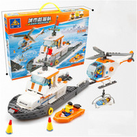 Kaizhi Toys For Children Police Series 85008 Maritime Search and Rescue Children Puzzle Assembly DIY Model Kids Educational Toy