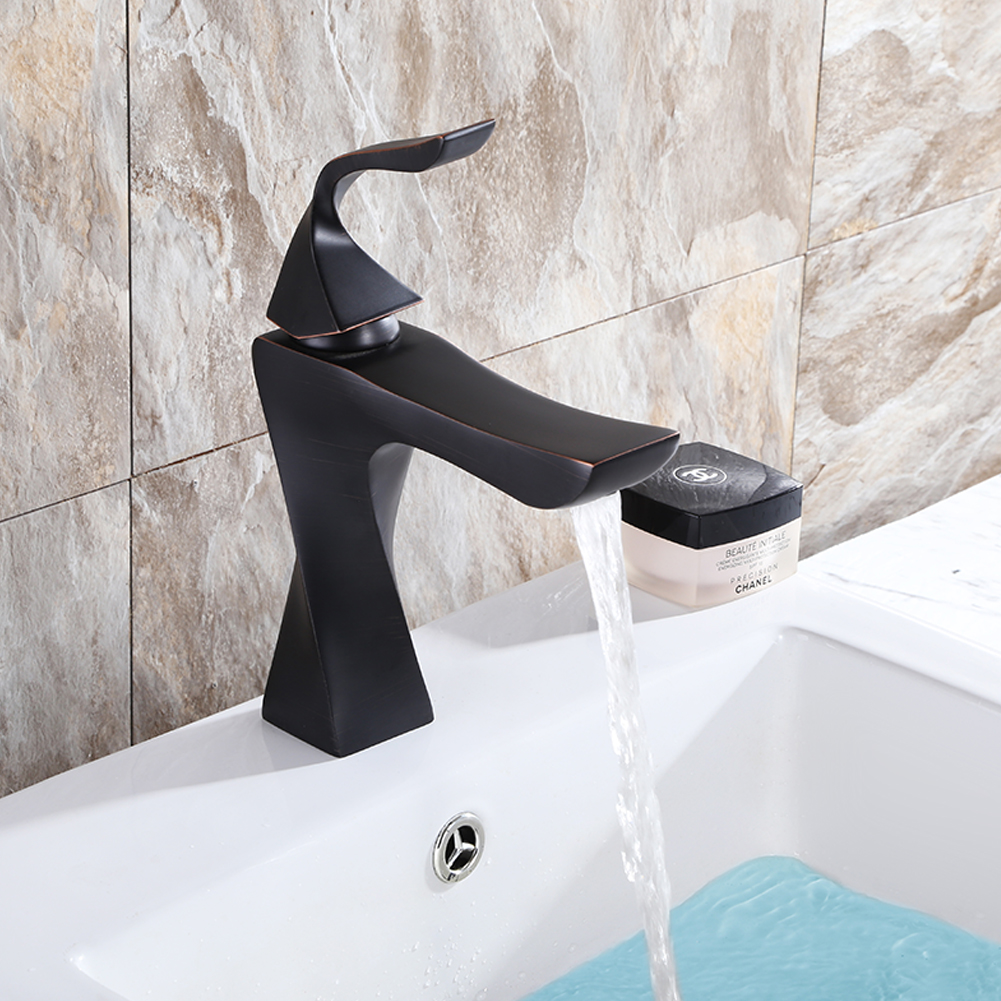 Black Unqiue Patent Basin Faucet Single Holes Hot And Cold Kitchen Mixer Solid Brass Single Handle Water Tap Co8725 chrome unqiue patent basin faucet single handle single holes hot and cold kitchen faucet mixer solid brass water tap co8723