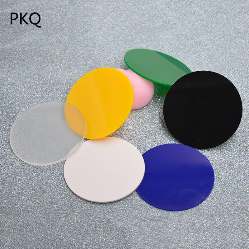 Heißer 2mm Dicke Runde Plexiglas Bord Farbige Acryl Blatt Diy Spielzeug Zubehör Modell, Der Durchmesser 6 Cm/7 Cm/8 Cm/9 Cm/10 Cm Grade Produkte Nach QualitäT