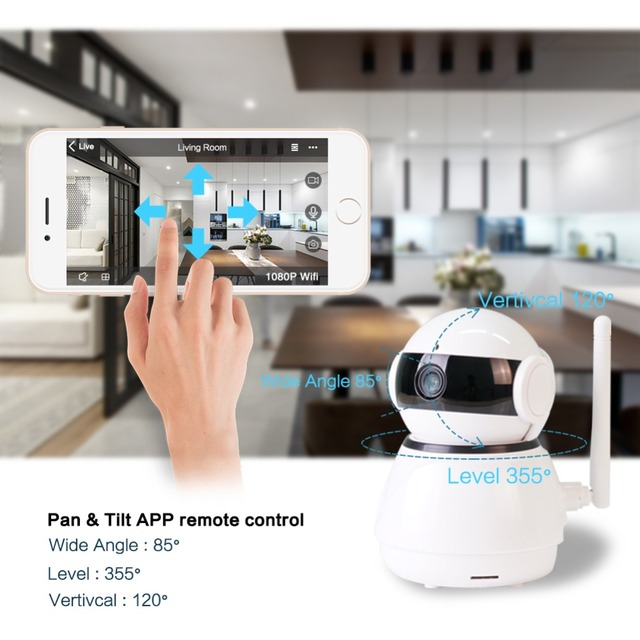Wifi Baby Ip Camera Monitor, Plus You Can Use As A SPY Camera, Surveillance, Monitor Seniors, And Pets, Excellent Video Quality 1080P Hd  2Mp  Free Shipping