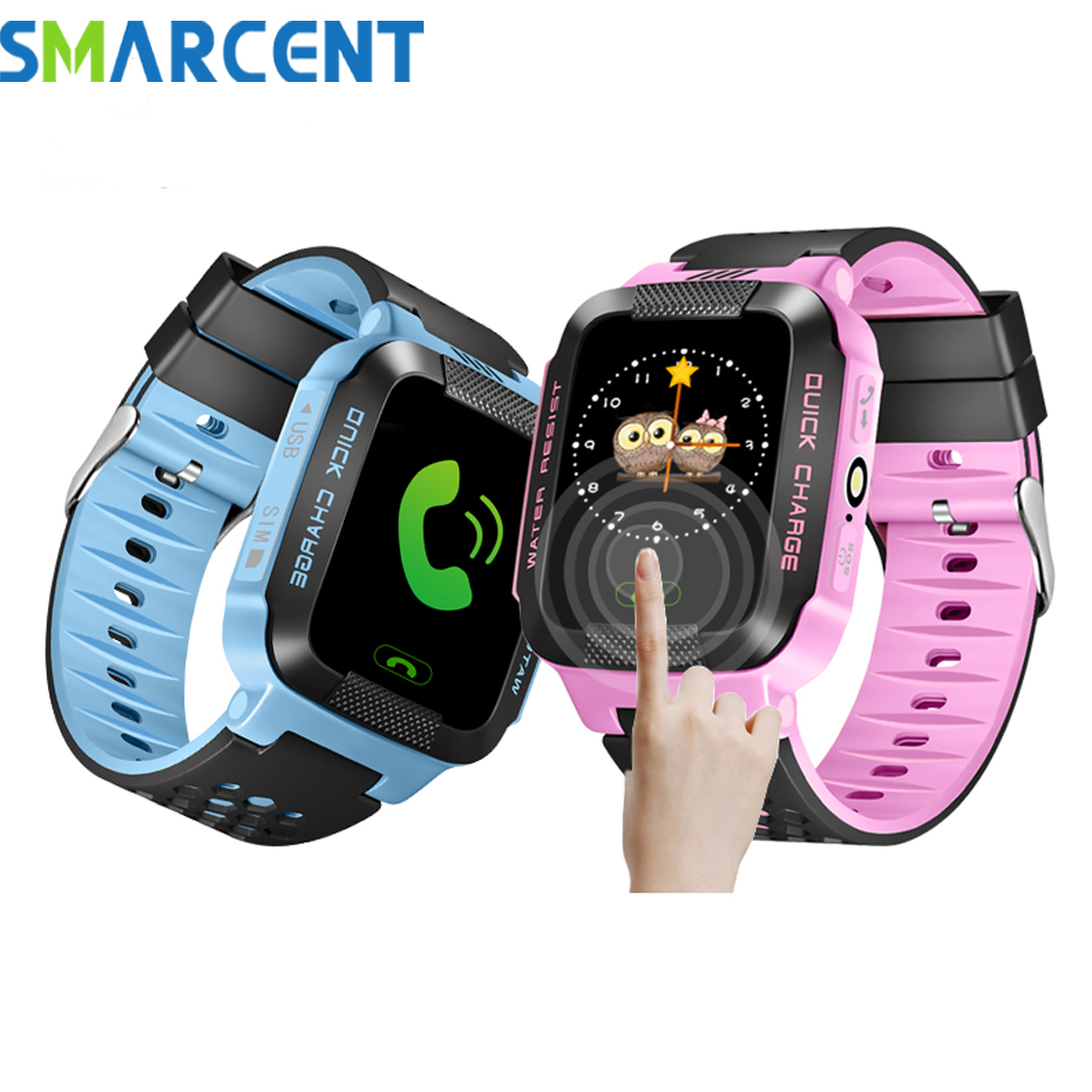 Smart Baby Watch phone Y22 GPS Tracker for kids safe SOS call Anti Lost reminder camera