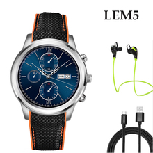 Lem5บลูทูธandroid 5.1 smart watchโทรศัพท์mt6580 quad coreโปรเซสเซอร์สนับสนุน3กรัมwifi h eart rate monitorสำหรับios a ndroid