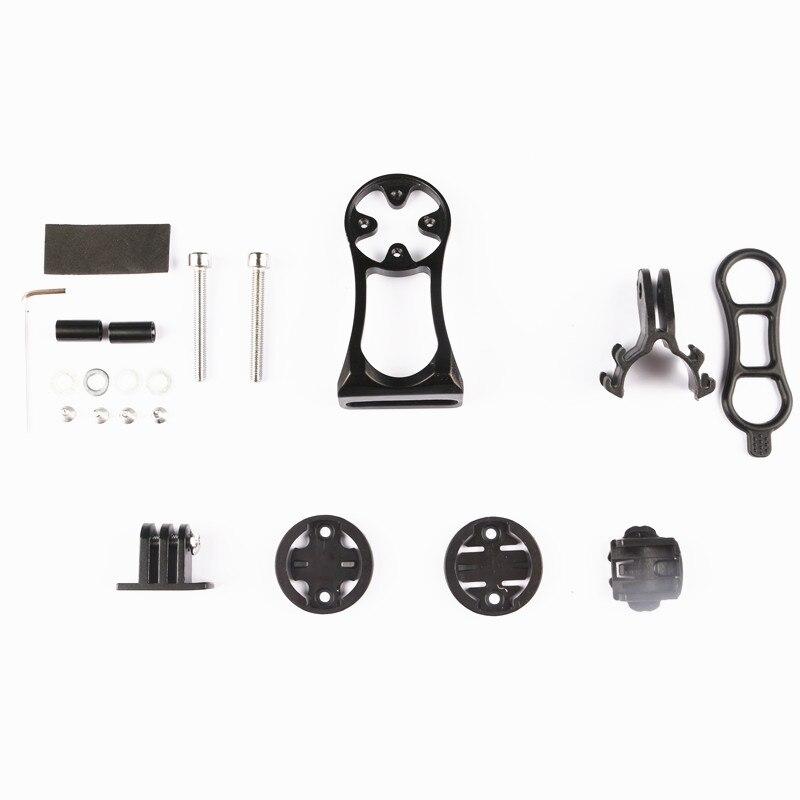 Ordenador para bicicleta montaje de la Cámara soporte bicicleta frontal luz titular Accesorios Moto-accesorios de montaje para Garmin Bryton CATEYE GoPro