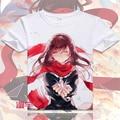 Аниме Kagerou проект футболка с коротким рукавом мода MekakuCity актеры майка свободного покроя MenTops эномото Takane тис