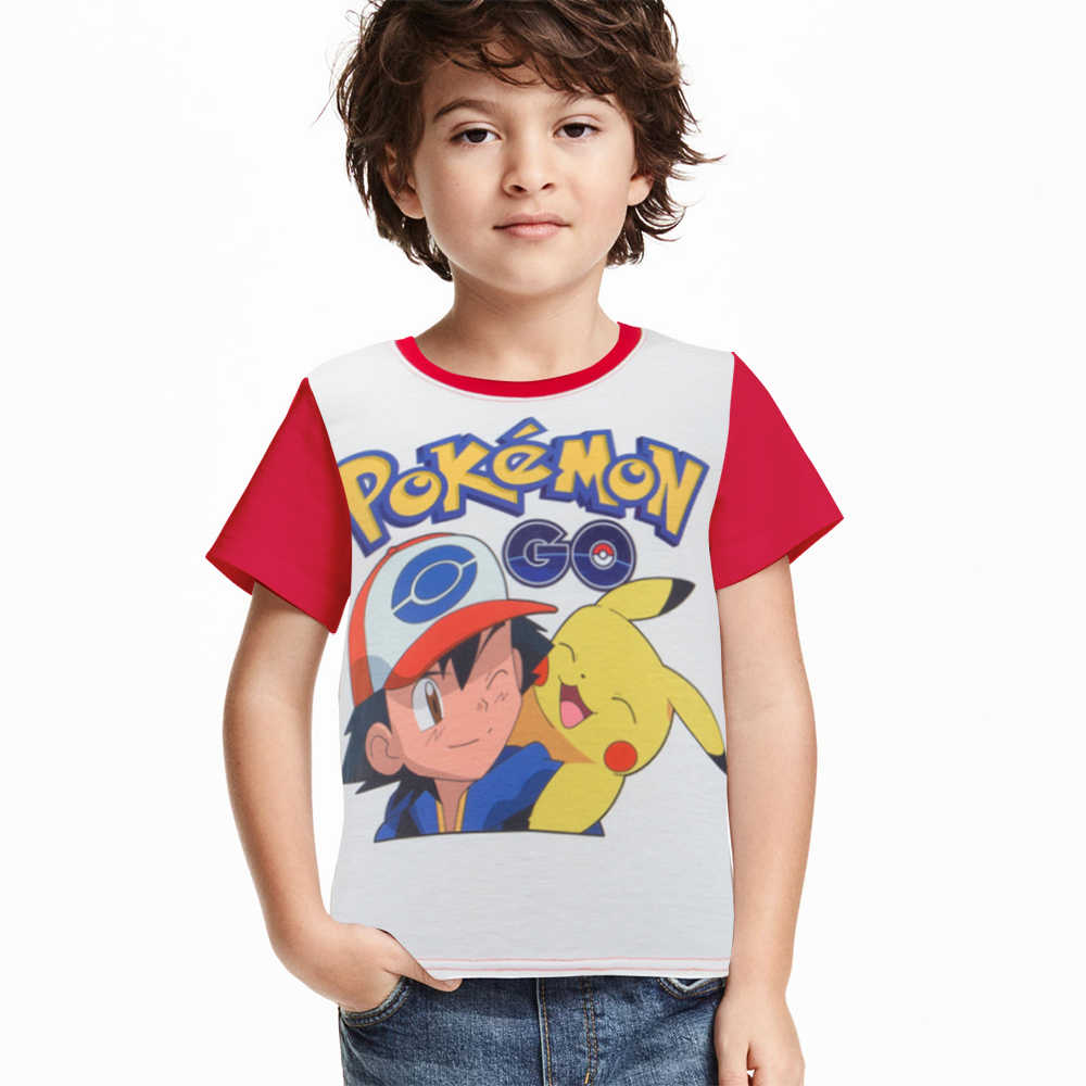 73bc5e50 Pokemon Go Pikachu Kids T Shirt Cartoon Anime Game Children T-shirt Boys  Girls Summer
