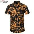 HCXY 2016 Summer Casual Slim Fit Floral Al Por Mayor Camisas de Los Hombres de Algodón Hombres Camiseta de Manga Corta Slim Fit Hombres Camisas Hawaianas