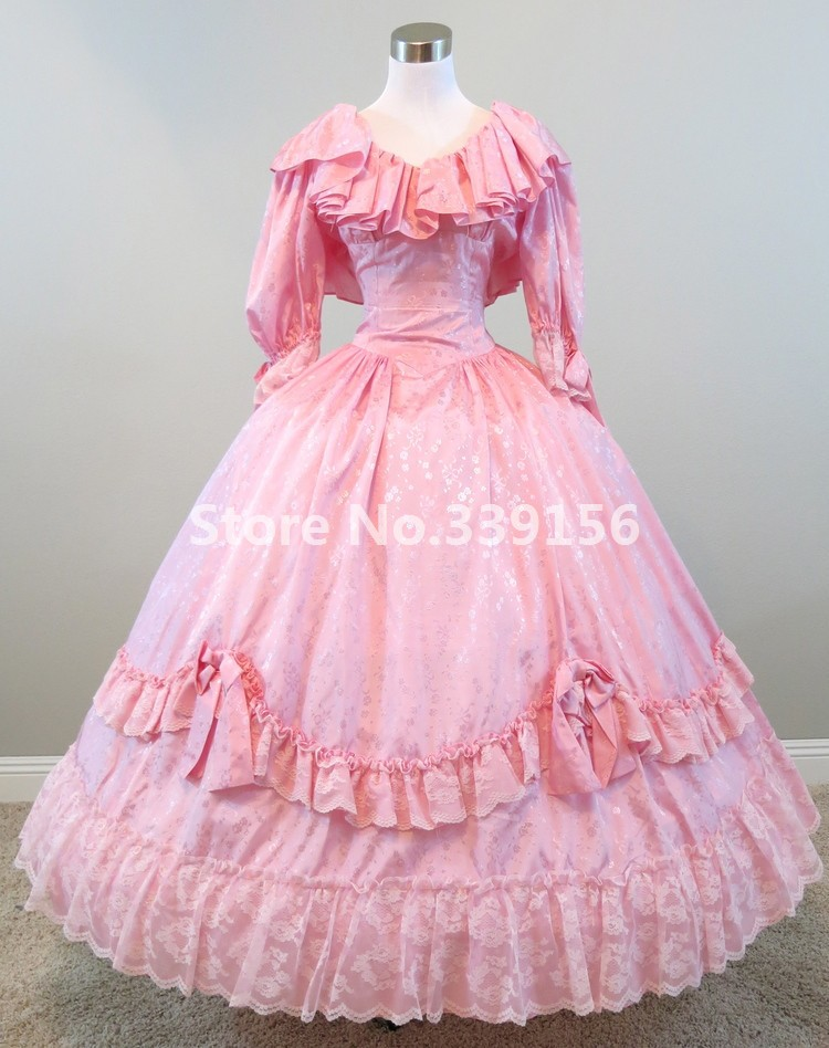 Marie Antoinette Masquerade Ball Gown Pink Dress Gothic