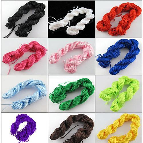 1Roll 25m Nylon Cord Thread Chinese Knot Macrame Bracelet Braided String For DIY Bracelet Braided