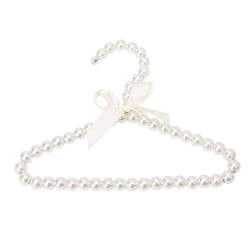 3pcs Plastic Pearl Beaded Bow Clothes Dress Coat Hangers Wedding F Kid Children font b Pet