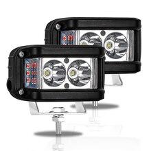 Çalışma Işığı 20 W LED çubuk Yan Flaş Strobe Sürüş Sis Işık için offroad kamyoneti Traktör SUV ATV Tekne 4x4 aksesuarları rampe Işın