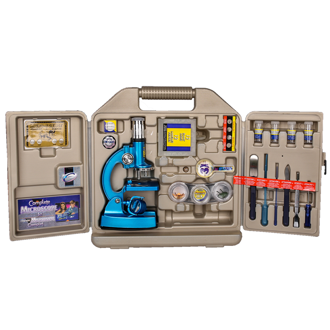 DIY 100X 200X 300X 600X 1200X Hd gran angular microscopio óptico puzle análisis celular equipo Experimental Stem Toy para niños