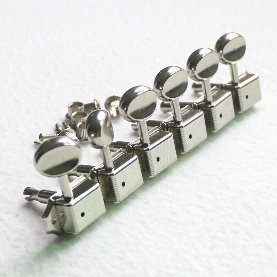 Sell Free shipping Donlis 6pcs in line Nickel color vintage guitar machine heads kluson guitar tuner guitar accessories гитара