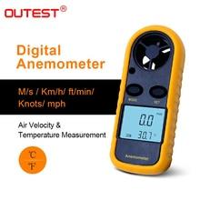 Наружный Анемометр, анемометр, Термометр GM816, измеритель скорости ветра, измеритель ветра 30 м/с, ЖК-цифровой Ручной инструмент