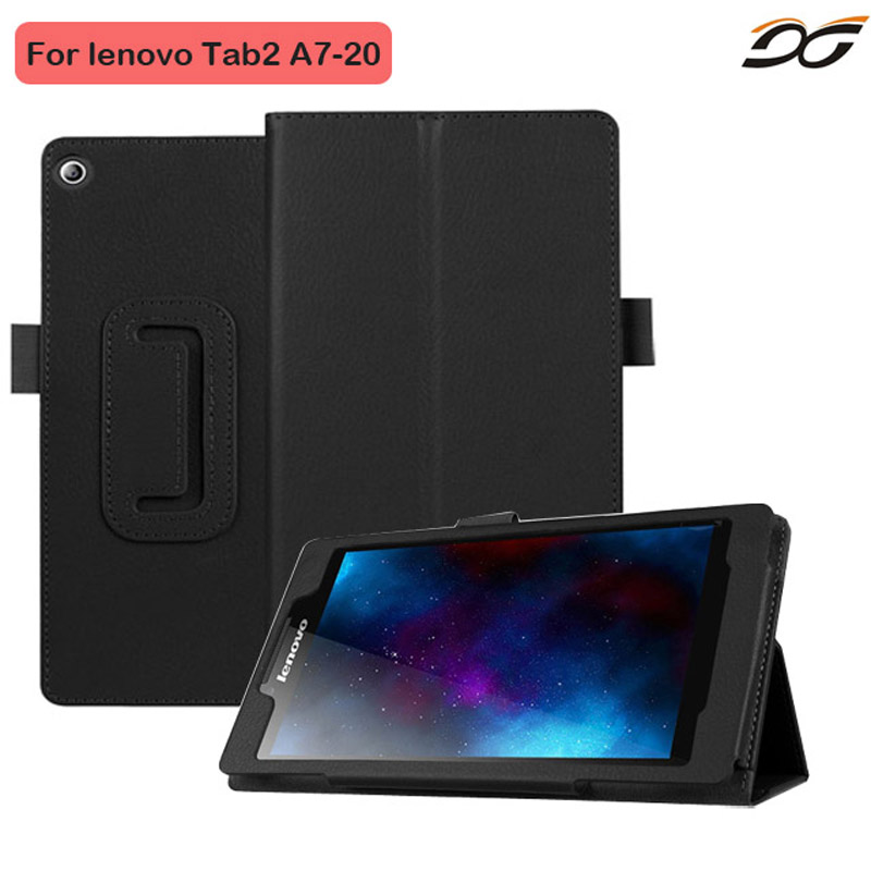 Cover Case For Lenovo Tab 2 Tab2 A7-20 A7 20F 7 Tablet Stand Leather Cover Litchi Grain Protective Folio Skin for Lenovo A7-20F 2017 new for lenovo tab2 a8 pu leather stand protective skin case for lenovo 8 inch tab 2 a8 50 a8 50f tablets cover film pen