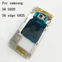Middle Plate Frame For Samsung Galaxy S6 G920F S6 Edge G925F Full Housing Front Bezel Rear