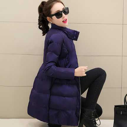 Winter Women Parka Thicken Warm Jacket Coat Slim A-Line Wadded Outerwear Stand Collar Female Medium Long Down Jacket A3856 цены онлайн
