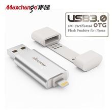 Maxchange 128GB USB Flash Drive OTG USB 3.0 External Storage U Disk Memory Disk Storage Flash Memory Pendrive For iPhone/iPad/PC