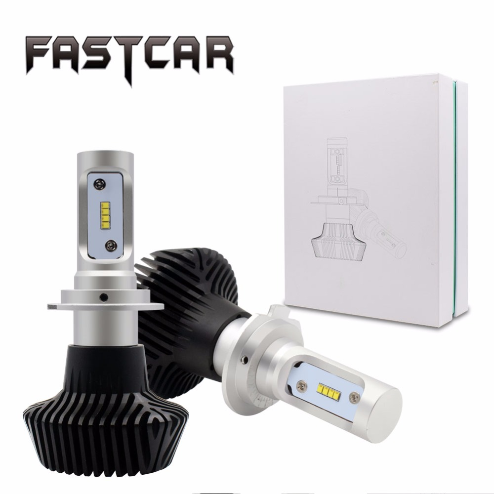Fastcar 2pcs/set G7 H7 50W 8000lm 6500K LED Car Headlight Conversion Auto Kit ZES Fog Chips Lamp Bulb DRL Super White 12V 24V ...