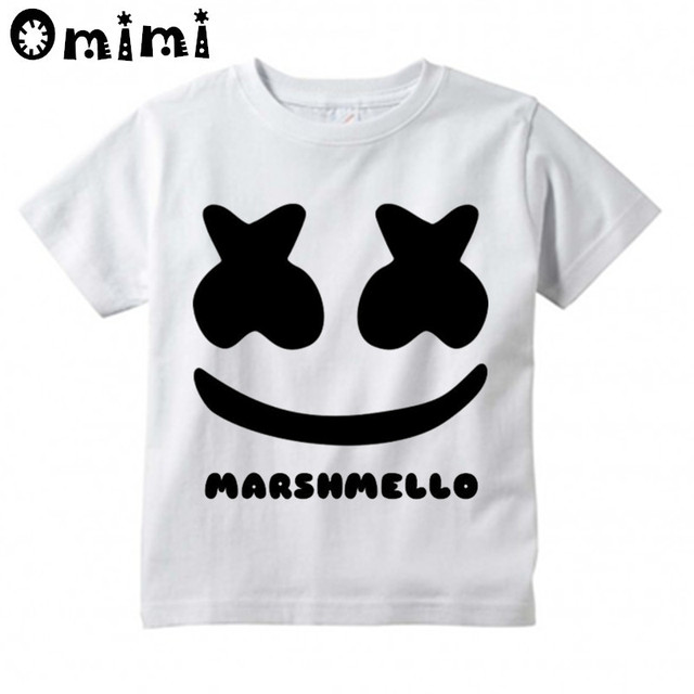 98f09db87a8 Boys Girls DJ Marshmello Design T Shirt Kids Great Casual Short Sleeve Tops  Children s Funny T-Shirt