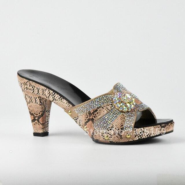 separation shoes 413aa 9a4c5 Schoenen Afrikaanse Mode Open Vrouwen Vrouw Kleur Bruine Bruiloft iTPZOXuk
