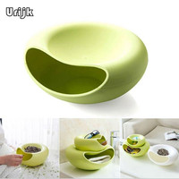 Urijk Double Layer Dry Fruit Containers Snacks Storage Box Melon Seeds Nut Bowl Holder Organizer Basket Dish Tray Phone Stents|storage box|organizer basketfruit container -