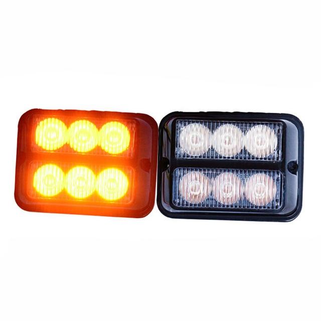 led lighting item roof round emergency soil magnetic bay amber yellow strobe cyan warning beacon light