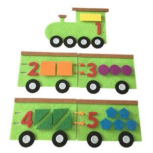 1 قطعة لعب للأطفال رياض الأطفال ألعاب تعليمية DIY شعر غير المنسوجة النسيج الحرف الاطفال وسائل تعليمية منتسوري الرياضيات لعب