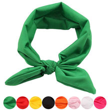 hair clips for women scrunchie jojo siwa Women Elastic Bow Hairband Turban Knotted Rabbit Hair Band Headband bandeau cheveux(China)