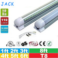 25pcs 1ft 2ft 3ft 4ft 5ft 6ft 8ft T8 Led Tubes Light 18W 22W 28W 36W 45W Integrated Led Fluorescent Tube Lamp AC 110-240V
