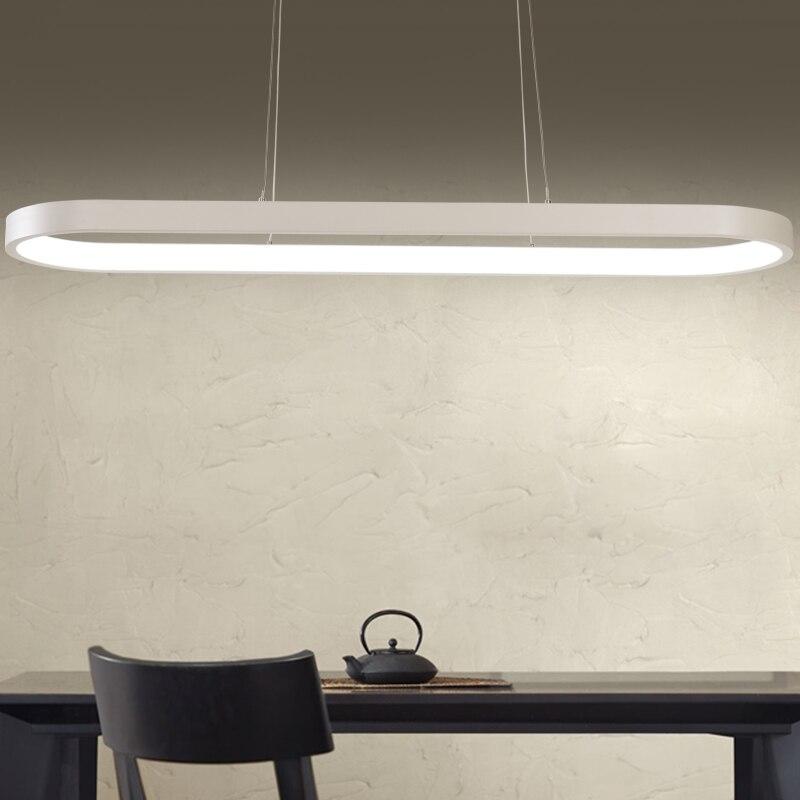Ovale Vorm 1200mm Lengte Moderne Led Hanglampen Voor Eetkamer ...