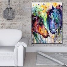 Canvas Print Wall Artwork Picture 1 Piece Artistic Color Horses Poster Home Decor Living Room Painting Framework Or Frameless