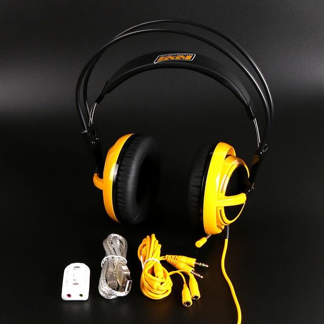 Marca steelseries siberia v2 natus vincere gaming auriculares con aislamiento de ruido auriculares auriculares + cable de extensión + tarjeta de sonido