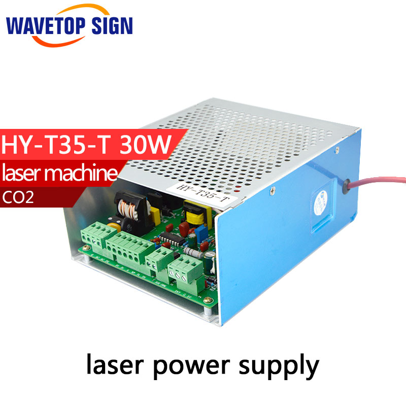 Laser Power Supply T35-T 35w General Type Laser Power Box  35w size:170*142*75mm  can match with 35-40w laser tube  1PCS laser power box 80 co2 laser power box 80w gernally laser power box 80w use for co2 laser tube 80w