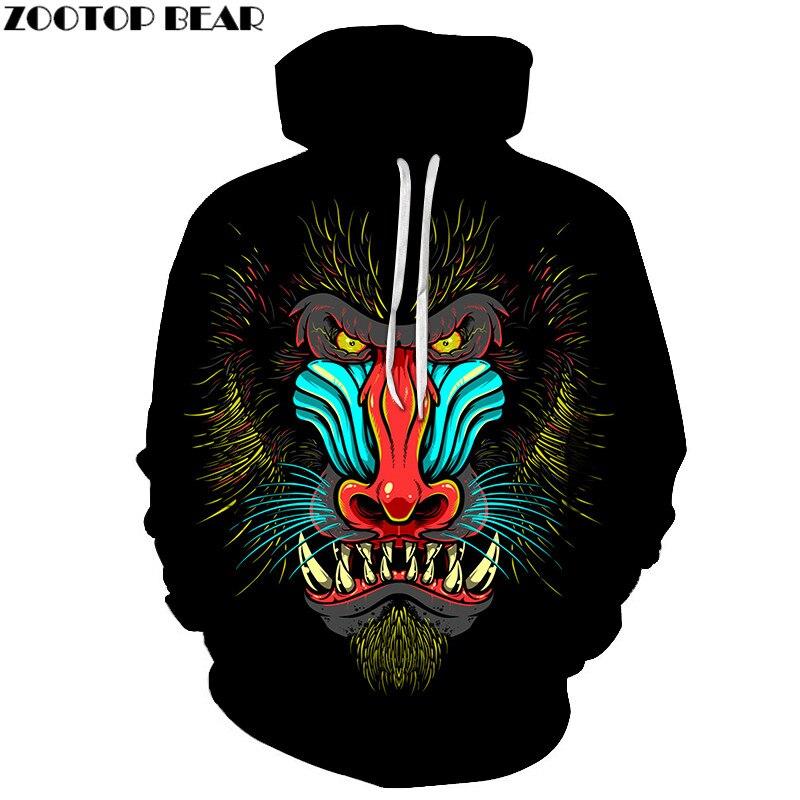Skull Printed Unisex Hoodie 3D Sweatshirts Pullover Harajuku Mens Black Hoody Streetwear Coat for Autumn 2018 Cloth Drop Ship