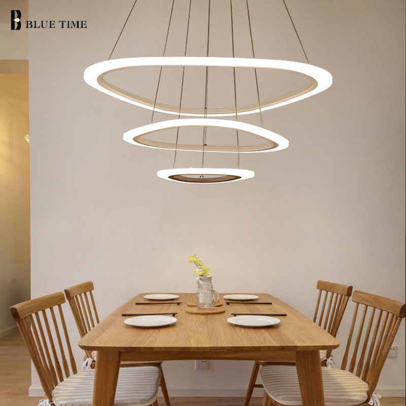 Modern LED Ceiling Light For Living Room Bedroom Dining room Luminaire Rings Acrylic Hanging Lamp Ceiling Lamp Lighting Fixtures iwhd led pendant light modern creative glass bedroom hanging lamp dining room suspension luminaire home lighting fixtures lustre